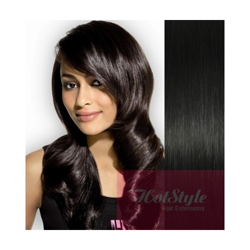 Clip In Human Hair Remy Black 24 60cm