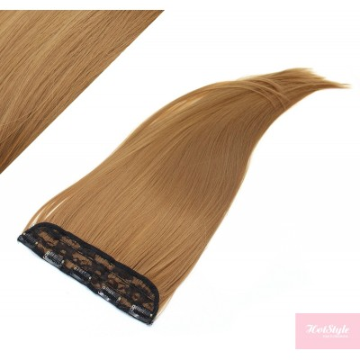 """24"""" one piece full head clip in kanekalon weft extension straight - light brown"""