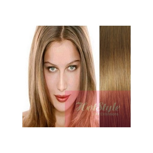 Clip In Human Hair Remy Light Brown 24 60cm