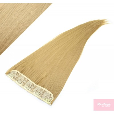 """24"""" one piece full head clip in kanekalon weft extension straight - natural blonde"""