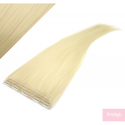 """24"""" one piece full head clip in kanekalon weft extension straight - the lightest blonde"""
