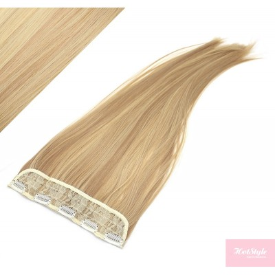"""24"""" one piece full head clip in kanekalon weft extension straight - light blonde / natural blonde"""