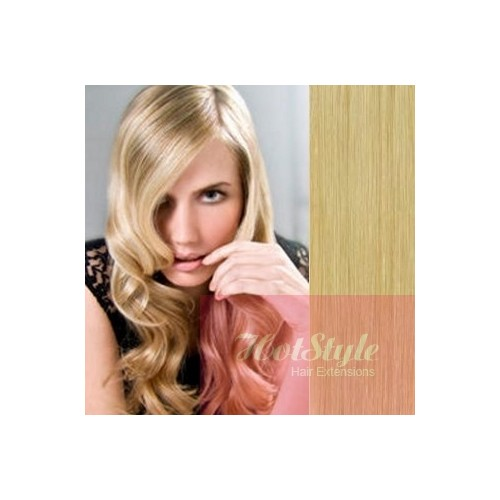 Clip In Human Hair Remy Natural Blonde 24 60cm