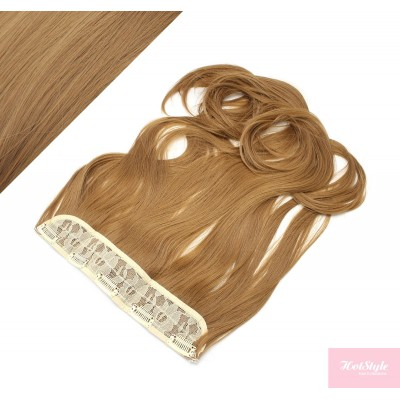 """24"""" one piece full head clip in kanekalon weft extension wavy - light brown"""