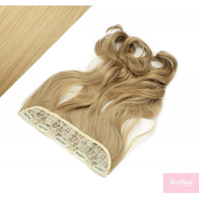 """24"""" one piece full head clip in kanekalon weft extension wavy - natural blonde"""
