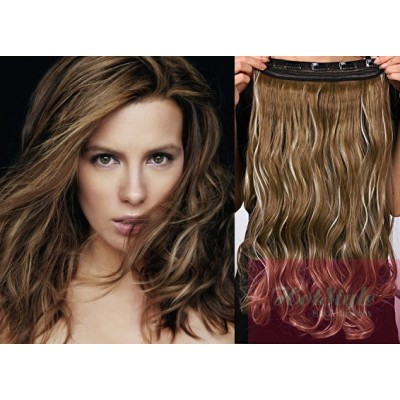 https://www.hair-extensions-hotstyle.com/536-1106-thickbox/24-one-piece-full-head-clip-in-kanekalon-weft-extension-wavy-dark-brown-blonde.jpg