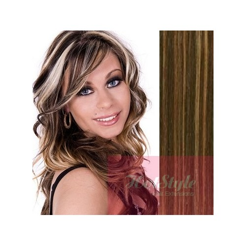 Clip In Human Hair Remy Dark Brownblonde 24 60cm