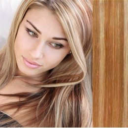 "24"" (60cm) Clip in human REMY hair - mixed blonde"