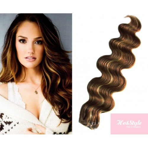 20 50cm Tape Hair Tape In Human Remy Hair Wavy Dark Brown