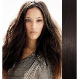 """15"""" (40cm) Clip in human REMY hair 100g - natural black"""