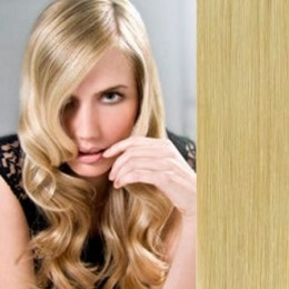 """15"""" (40cm) Clip in human REMY hair 100g - natural blonde"""