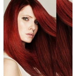 """15"""" (40cm) Clip in human REMY hair 100g - copper red"""