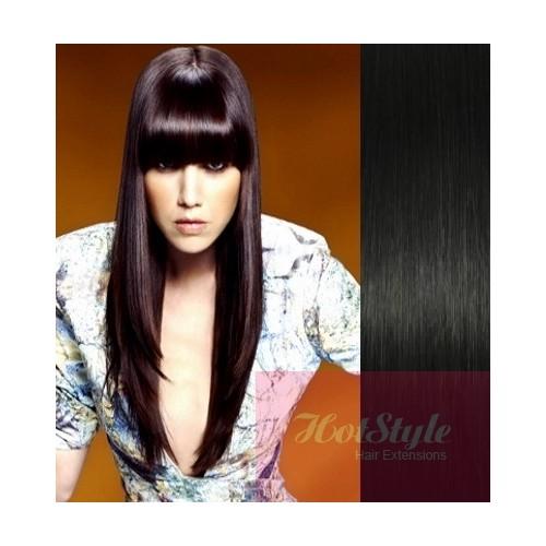 Clip In Bangfringe Human Hair Remy Black