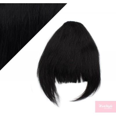 Clip in human hair remy bang/fringe - black