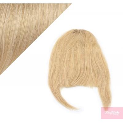 Clip in human hair remy bang/fringe - natural blonde