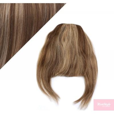 Clip in human hair remy bang/fringe - dark brown/blonde