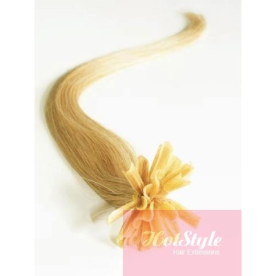 "16"" (40cm) Nail tip / U tip human hair pre bonded extensions - natural blonde"