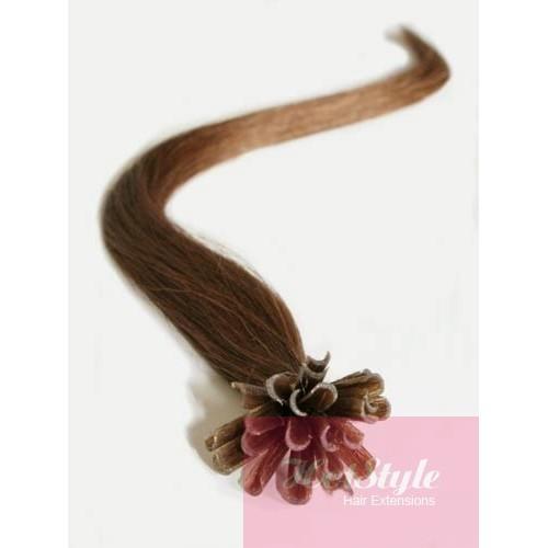 20 50cm Nail Tip U Tip Human Hair Pre Bonded Extensions