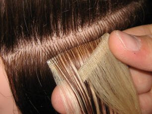 How to apply hair extensions hotstyle this method is great for adding volume and can work out to be more longer lasting but it can be slightly tricky to get the application just right tape hair solutioingenieria Image collections