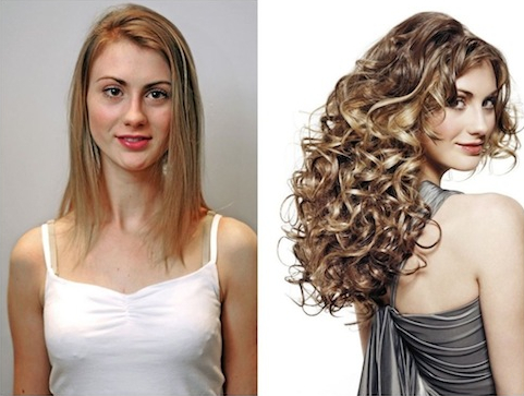 Vlasy před a po