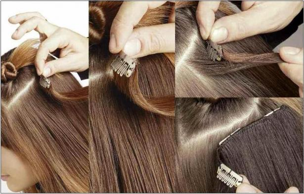 How to apply hair extensions hotstyle how to apply clip in pmusecretfo Images