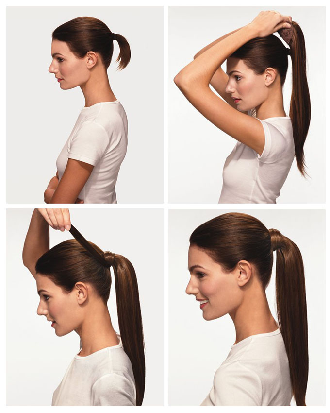 How to apply ponytail wrap