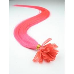 "20"" (50cm) Nail tip / U tip human hair pre bonded extensions – pink"