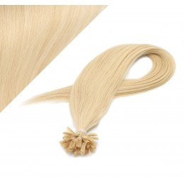 "24"" (60cm) Nail tip / U tip human hair pre bonded extensions - the lightest blonde"