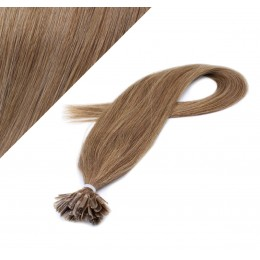 "24"" (60cm) Nail tip / U tip human hair pre bonded extensions - light brown"