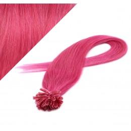 "24"" (60cm) Nail tip / U tip human hair pre bonded extensions - pink"