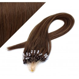 "20"" (50cm) Micro ring human hair extensions - medium brown"