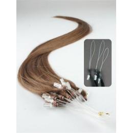 "20"" (50cm) Micro ring human hair extensions – medium light brown"