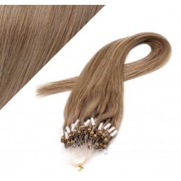 "20"" (50cm) Micro ring human hair extensions - light brown"