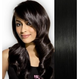 "Clip in human REMY hair 15"" - black"