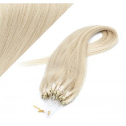 "20"" (50cm) Micro ring human hair extensions - platinum blonde"