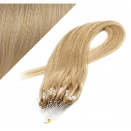 "24"" (60cm) Micro ring human hair extensions - natural blonde"
