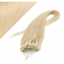 "24"" (60cm) Micro ring human hair extensions - the lightest blonde"