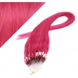 "24"" (60cm) Micro ring human hair extensions - pink"
