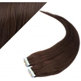 "16"" (40cm) Tape Hair / Tape IN human REMY hair - dark brown"