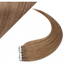 """16"""" (40cm) Tape Hair / Tape IN human REMY hair - light brown"""
