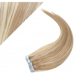 """16"""" (40cm) Tape Hair / Tape IN human REMY hair - mixed blonde"""