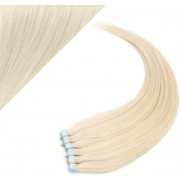"20"" (50cm) Tape Hair / Tape IN human REMY hair - platinum blonde"