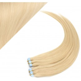 """24"""" (60cm) Tape Hair / Tape IN human REMY hair - the lightest blonde"""