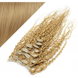 "20"" (50cm) Clip in curly human REMY hair - natural blonde"