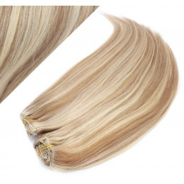 "15"" (40cm) Deluxe clip in human REMY hair - mixed blonde"