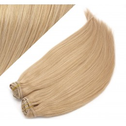"28"" (70cm) Deluxe clip in human REMY hair - natural blonde"