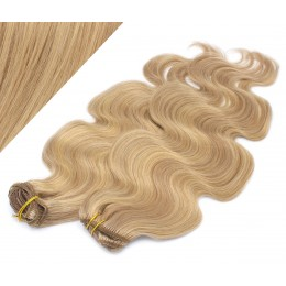"""20"""" (50cm) Deluxe wavy clip in human REMY hair - light blonde/natural blonde"""