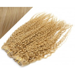 "20"" (50cm) Deluxe curly clip in human REMY hair - natural blonde"