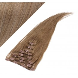 "15"" (40cm) Clip in human REMY hair - light brown"