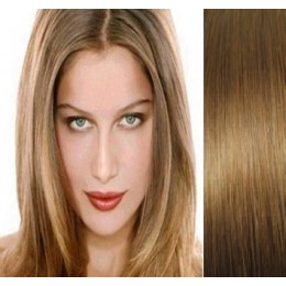 """15"""" (40cm) Clip in human REMY hair - light brown"""